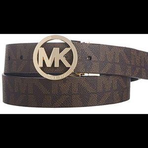 Michael Kors MK Belt Silver Buckle Reversible L
